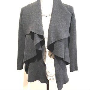 Theory Wool Cascading Cardigan Sweater